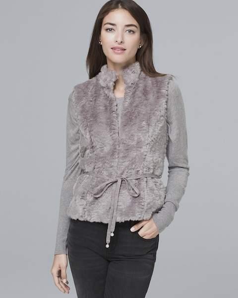 Whbm Faux Fur Vest