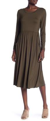 WEST KEI Long Sleeve Midi Dress