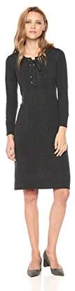 Nine West Women's 3/4 Sleeve Athleisure Dress with Lace up Rib Trim Detail