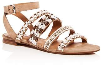 Rebecca Minkoff Women's Leila Beaded Suede Ankle Strap Sandals