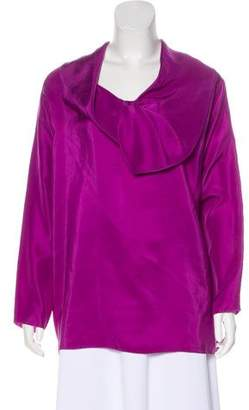 Yigal Azrouel Long Sleeve Satin Top