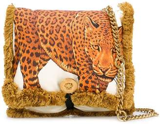 Versace fringed edge crossbody bag