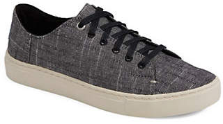 Toms Womens Textured Chambray Lenox Sneakers