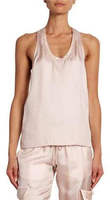 Tom Ford Satin Tank with Cashmere Racerback