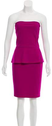 Chiara Boni Strapless Peplum Dress