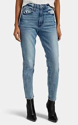 Jordache Women's PVC-Pocket Slim-Straight Crop Jeans - Blue