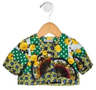 Dolce & Gabbana Girls' Printed Short Sleeve Jacket
