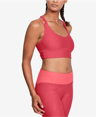 7334f386e4 Free Shipping at Macy s · Under Armour HeatGear Long-Line Strappy-Back Low-Impact  Sports Bra