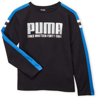 Puma Boys 8-20) Black Logo Sweatshirt