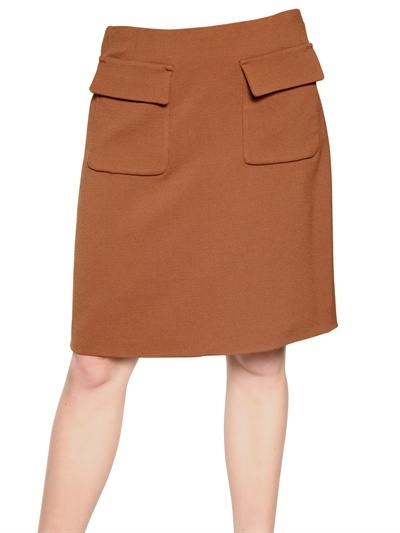 Rochas - Stretch Virgin Wool Crepe Skirt