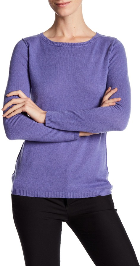In Cashmere Cashmere Open-Stitch Pullover Sweater 27