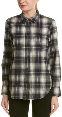 Vince Plaid Top