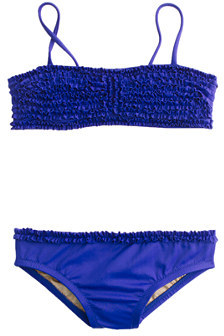 J.Crew Girls' tiny frills bikini set