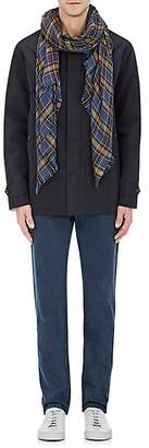 Loro Piana Men's Plaid Cashmere-Silk Scarf