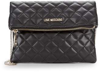 Love Moschino Women's Quilted Chain Strap Clutch