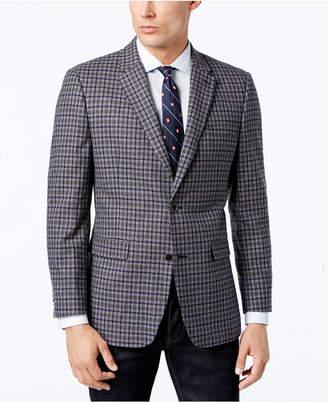 Tommy Hilfiger Men's Slim-Fit Gray/Blue Check Sport Coat