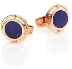 Dunhill Rose Goldtone Sodalite Cuff Links