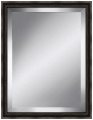 Asstd National Brand Distressed Dark Brown Beveled Plate Mirror