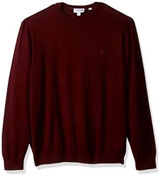 Lacoste Men's Cotton Jersey Crew Neck Sweater