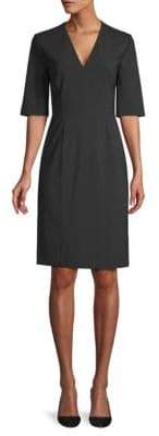 BOSS Stretch Wool Sheath Dress