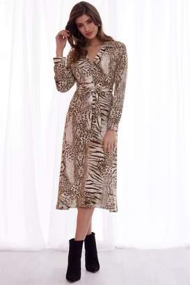33d9891c3c Next Lipsy Animal Print Midi Shirt Dress - 4