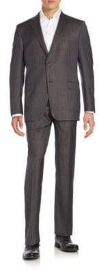 Hickey Freeman Regular-Fit Pinstriped Worsted Wool Suit