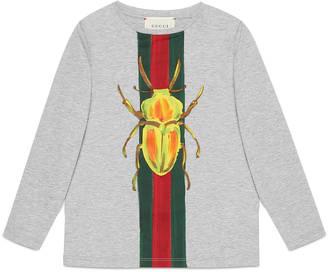 Children's beetle Web print shirt $135 thestylecure.com
