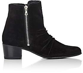 Amiri Women's Skinny Stack Suede Ankle Boots - Black