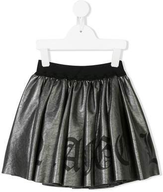 John Richmond Junior logo print skirt