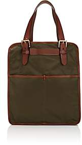 Felisi Men's Slim Shopper Tote Bag-Olive