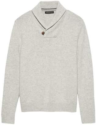 Banana Republic Italian Merino Wool Shawl-Collar Sweater