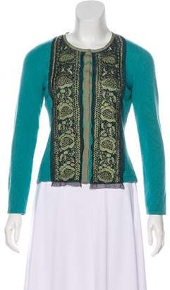 Philosophy di Alberta Ferretti Long Sleeve Embroidered Cardigan