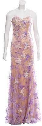 Jovani Embroidered Maxi Dress w/ Tags