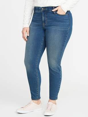 Old Navy High-Rise Secret-Slim Pockets + Waistband Built-In Warm Rockstar Super Skinny Plus-Size Jeans