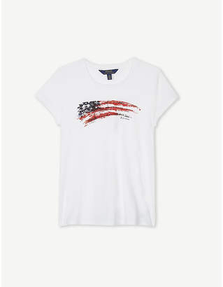 Ralph Lauren Swoosh flag cotton T-shirt 7-14 years