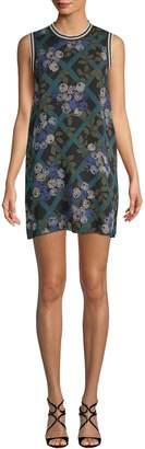 Anna Sui Women's Rose Trellis Silk Chiffon Dress