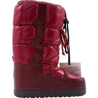 Moncler Burgundy Cloth Boots