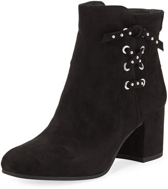 Sam Edelman Vinnie Faux-Suede Lace-Up Side Booties