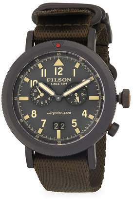 Filson Men's Scout Dual-Time Stainless Steel Strap Watch