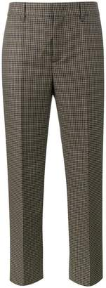 Prada cropped houndstooth trousers