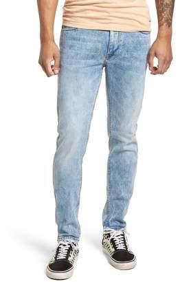 Denim & Supply Ralph Lauren Dr. Denim Supply Co Clark Slim Straight Leg Jeans (Superlight Blue Ripped)