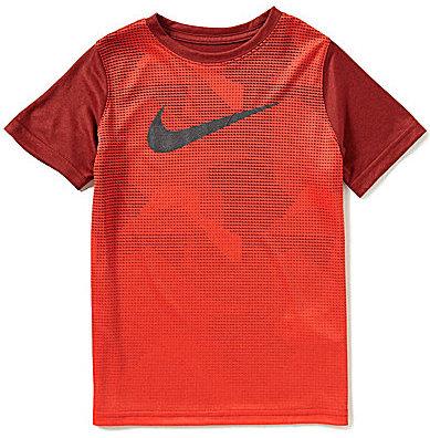 Nike Big Boys 8-20 Legend Camouflage-Sublimation-Printed Color Block Short-Sleeve Tee
