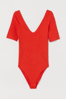 H&M V-neck Bodysuit - Orange
