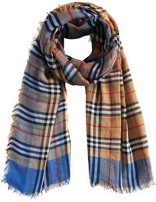 Burberry vintage check square scarf