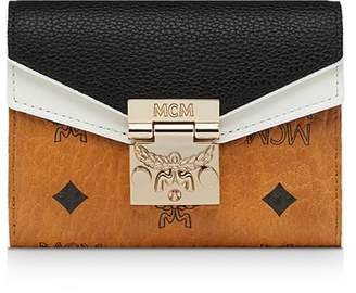MCM Patricia Leather Block Small 3-Fold Wallet