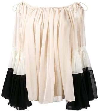 Chloé draped off-shoulder blouse