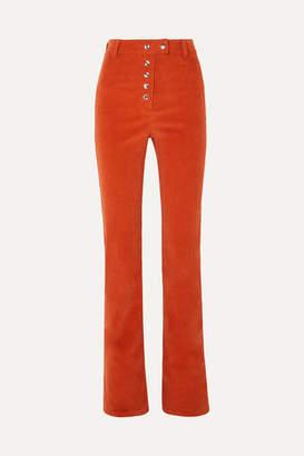 The Line By K - Mona Cotton-corduroy Straight-leg Pants - Orange