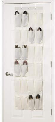 Household Essentials 24 Pocket 24 Pair Overdoor Shoe Organizer