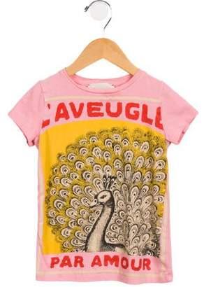 Gucci Girls' Printed Short Sleeve T-Shirt