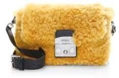 Furla Metropolis Nuvola Shearling Crossbody Bag